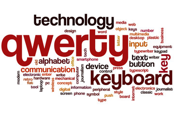 Qwerty word cloud