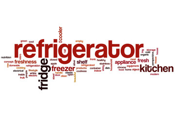 Refrigerator word cloud