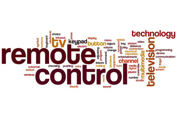 Remote control word cloud
