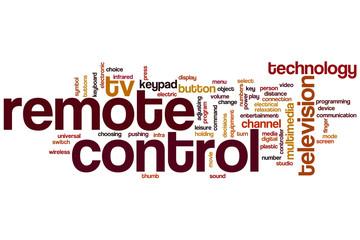 Remote control word cloud