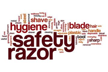 Safety razor word cloud
