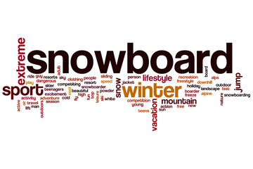 Snowboard word cloud