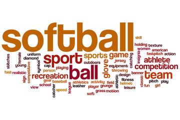 Softball word cloud