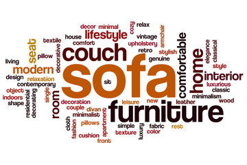 Sofa word cloud