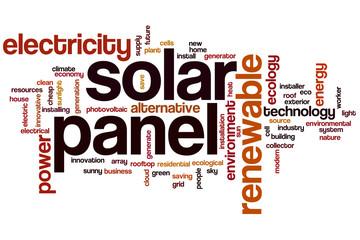 Solar panel word cloud
