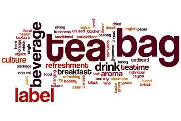 Tea bag word cloud