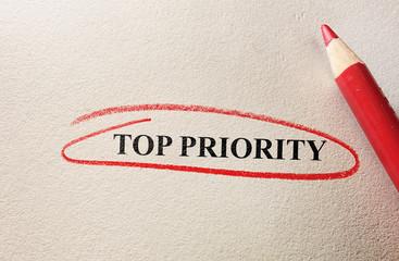 Top Priority red circle