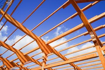 Neubau eines Rindviehstalles,  Holzbau - Nagelbinderkonstruktion