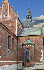 Dome cathedral church in old Riga, Latvia