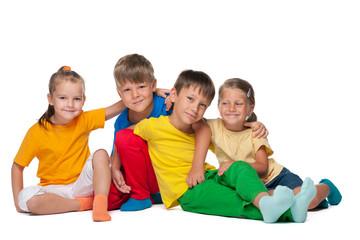 Four cheerful kids