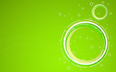 Abstract green background. Vector Illustration