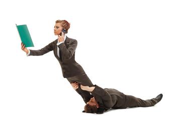 Flexible people represent idea of multitasking