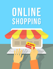 Online Shopping by Laptop