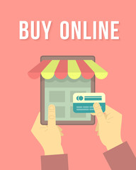 Online Shopping by Tablet