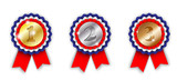 award ribbons, 1st, 2nd and 3rd place