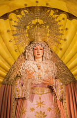 Seville - The cried Virgin Mary statue