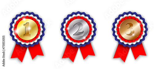 award ribbons, 1st, 2nd and 3rd place - 75853055