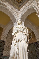 Seville - statue Pallas Pacifera in Casa de Pilatos .