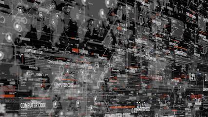 Computer code program digital background