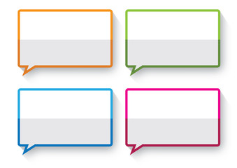 paper talk boarder banner tag vector
