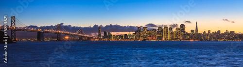Aluminium San Francisco Bay Bridge and San Francisco