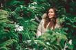 Girl hidden in trees