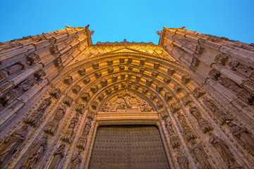 Seville - The main west portal  of Cathedral