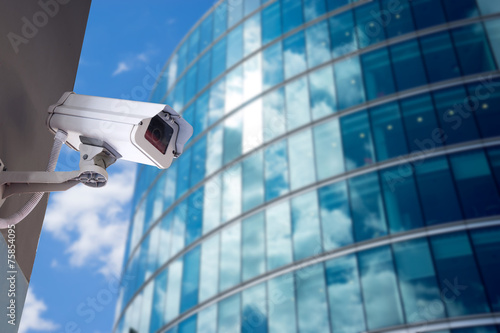 Security CCTV camera in office building - 75854095
