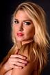 canvas print picture - Blond Girl Portrait