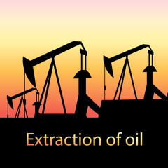 illustration of oil production