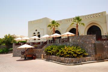 The terrace of restaurant  at luxury hotel, Ras Al Khaimah, UAE