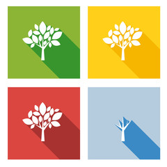 Four seasons in flat design