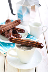 Chocolate Viennese fingers biscuits