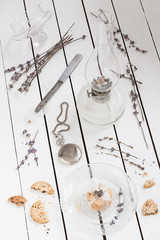 Cookie Gift, Dried Lavender, an Oil Lamp and a Pocket Watch