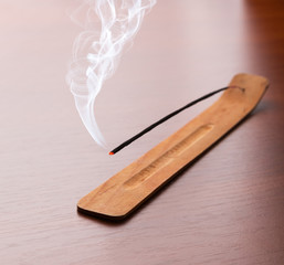 Incense sticks on the table