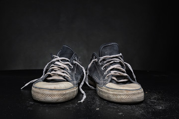 Old sports trainers