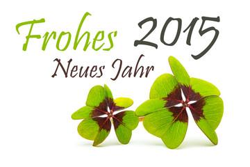 frohes neues jahr 2015 mit klee