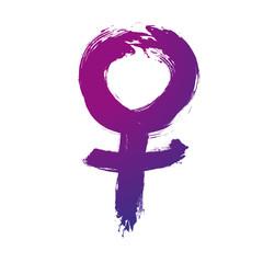 Weltfrauentag, Venus, Symbol,Pinselstrich, frei,Vektor