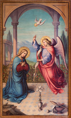 Vienna - The Annunciation paint in chruch Muttergotteskirche