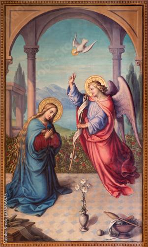 Foto op Plexiglas Wenen Vienna - The Annunciation paint in chruch Muttergotteskirche