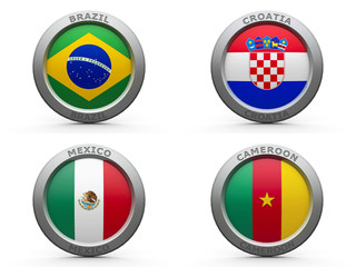 Brazil world cup 2014 group A