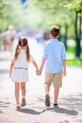 Kids in a beautiful park