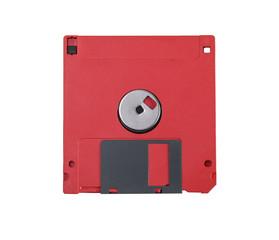 Red floppy disc