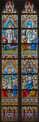 Bruges - windowpane in st. Jacobs church (Jakobskerk).