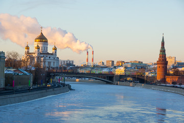 Морозное утро в Москве