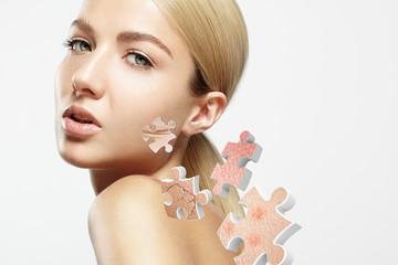 Skin problem concept