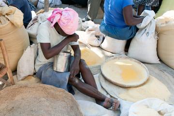 Marktszene, Verrettes, Haiti