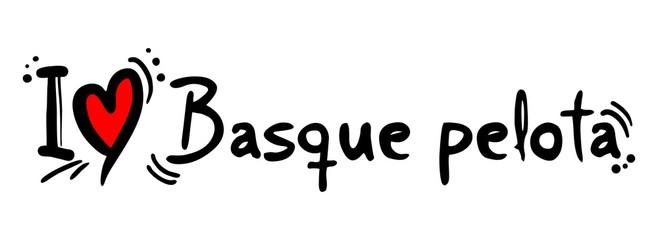 Basque pelota love
