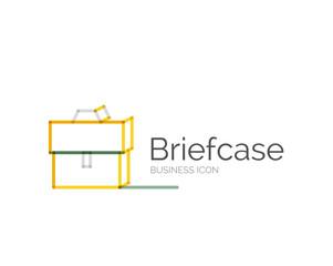 Line minimal design logo briefcase