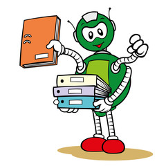 Mascot general service robot and organizing files